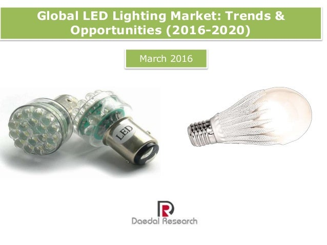 Global LED Lighting Market: Trends & Opportunities (2016 ...