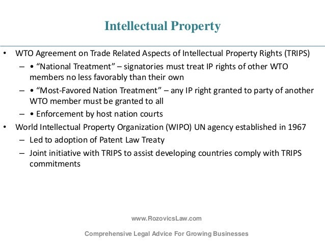 Trade Related Aspects Of Intellectual Property Rights Signatories