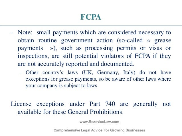 Legal considerations checkpoint