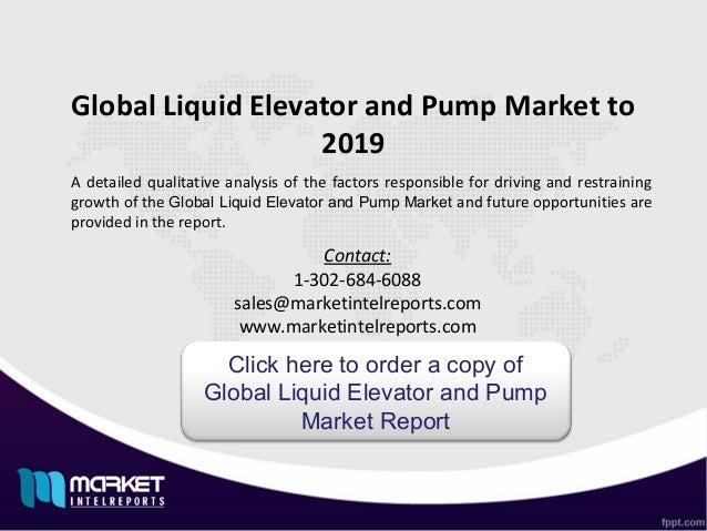 Global liquid elevator and pump jsbmarketresearch