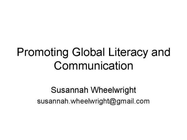 Promoting Global Literacy & Communication