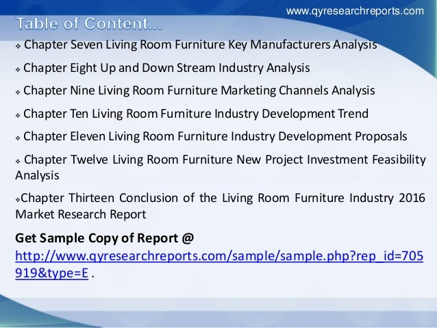 Global Living Room Furniture Industry 2016 Market Growth