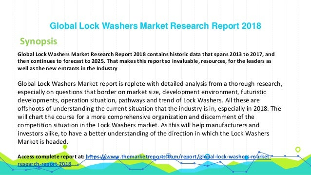 Global Lock Washers Market Comparison by Types, Application and by R…
