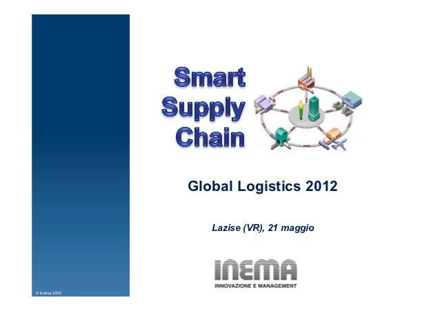 Global Logistics 2012                  Lazise (VR), 21 maggio© Inema 2012