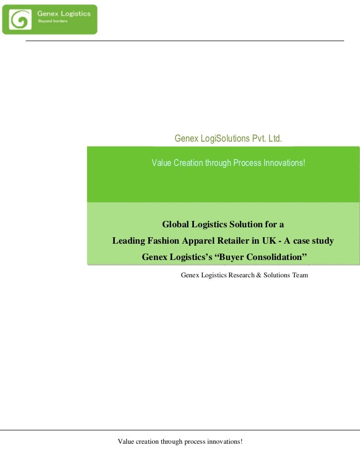 Genex LogiSolutions Pvt. Ltd.            Value Creation through Process Innovations!                Global Logistics Solut...