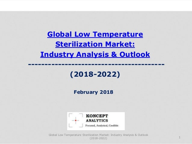 Global Low Temperature Sterilization Market: Industry Analysis & Outlook ----------------------------------------- (2018-2...