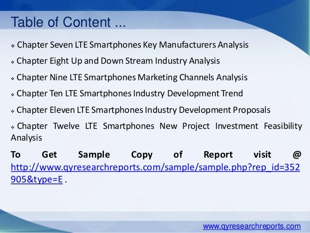 Smartphones market analysis and product development