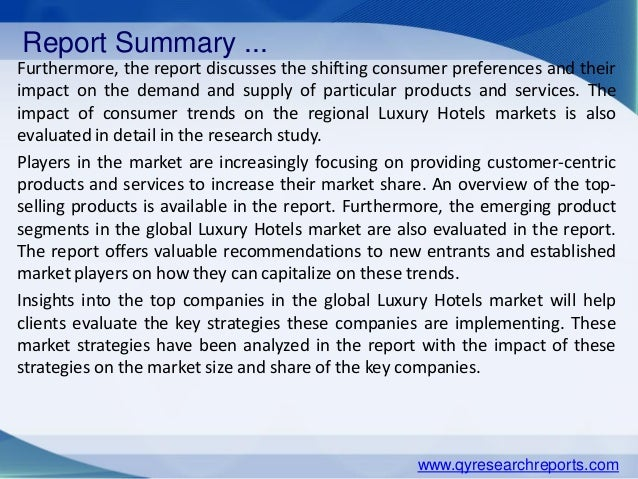 Luxury Hotels Market 2015 Industry Research, Analysis, Growth, Trends and Overview Slide 3