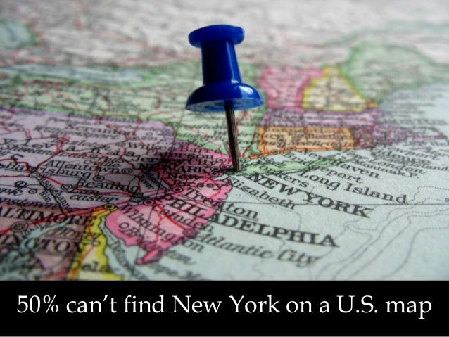 50% can't find New York on a U.S. map