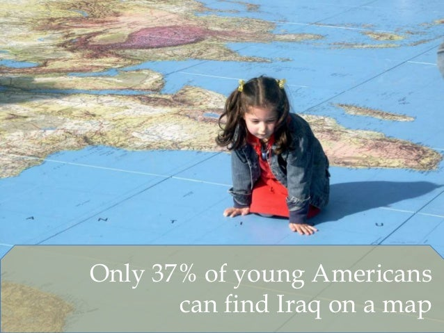 Only 37% of young Americans can find Iraq on a map
