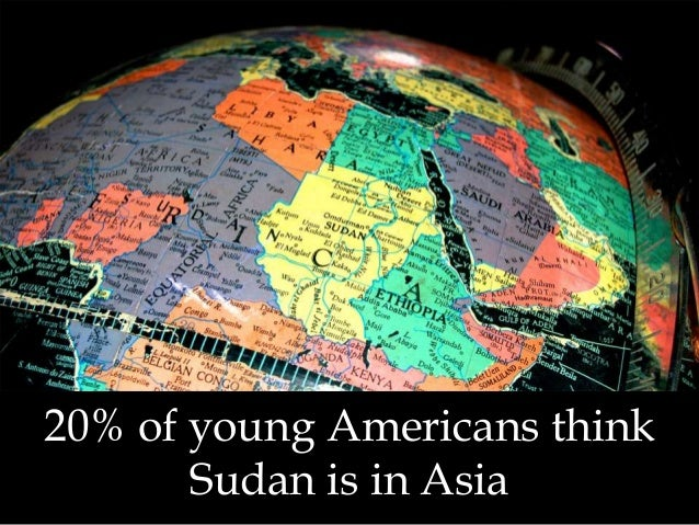 20% of young Americans think Sudan is in Asia
