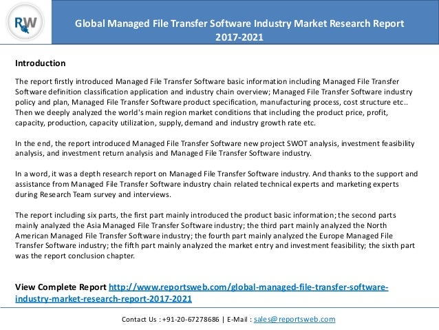 Global managed file transfer software industry market research report…