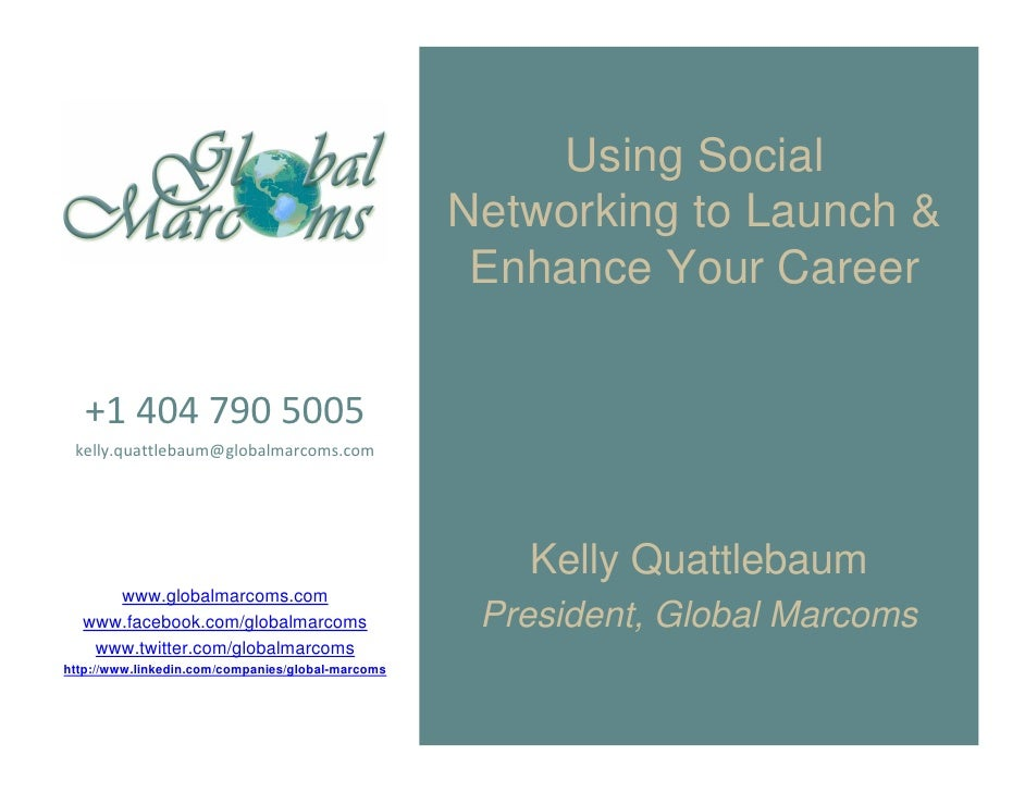Using Social                                                    Networking to Launch &                                    ...