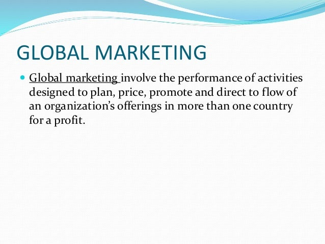 international marketing environment Need to learn about the various sorts international environment factors, which may impact the over all international market and how we may overcome them.