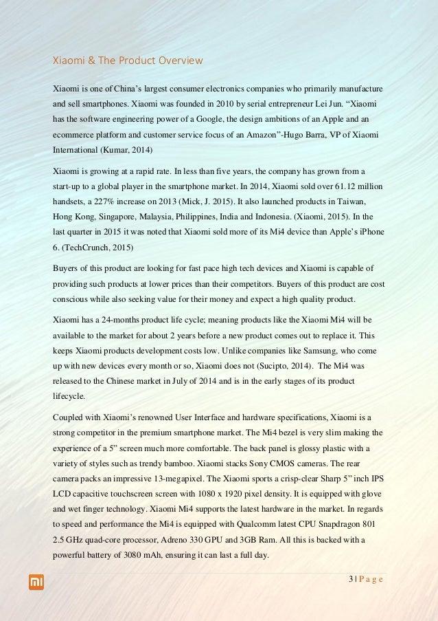 Global Marketing Plan Xiaomi Brazil