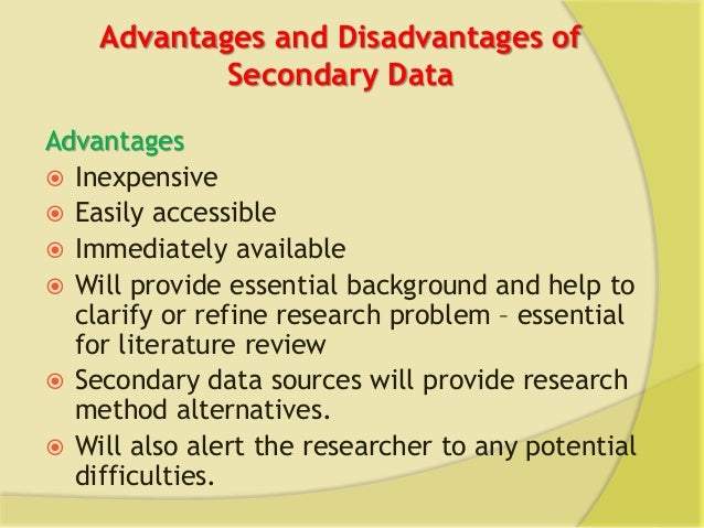 research advantages and disadvantages This lesson examines the three main ways of conducting research on adults and older individuals specifically, we will examine the three types, some of their advantages, and some of their disadvantages.