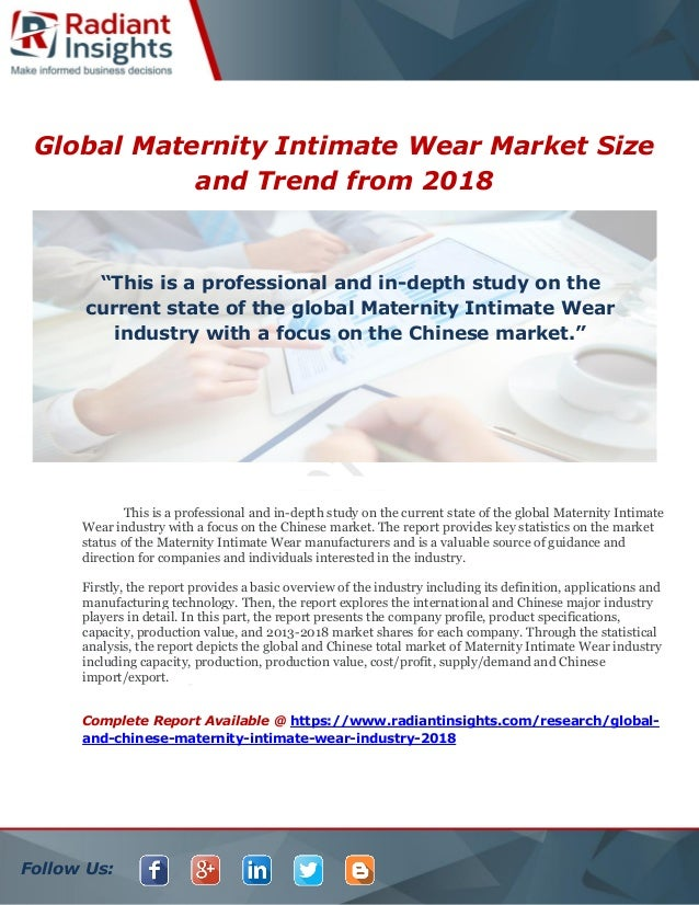 f8b358798 Follow Us  Global Maternity Intimate Wear Market Size and Trend from 2018  This is a ...