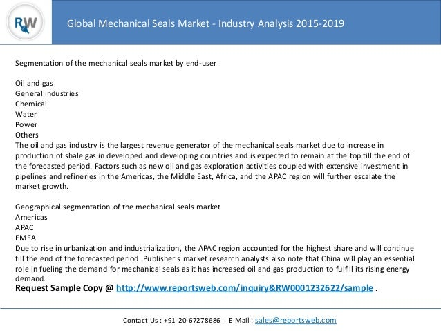 Worldwide Mechanical Seals Market 2015 Trend, Analysis and Overview Slide 3