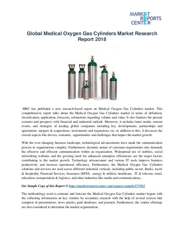 Global medical oxygen gas cylinders market research report