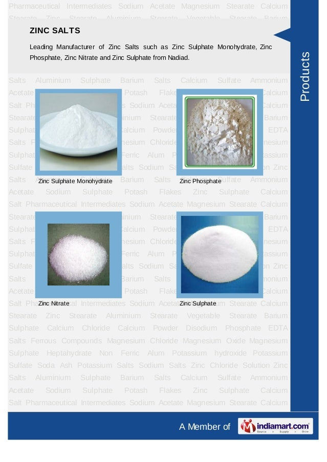 Pharmaceutical Intermediates Sodium Acetate Magnesium Stearate CalciumStearate     Zinc   Stearate    Aluminium      Stear...