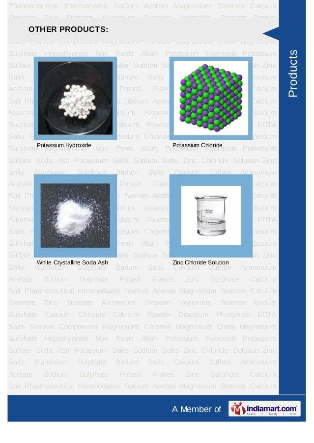 Pharmaceutical Intermediates Sodium Acetate Magnesium Stearate CalciumStearate     Zinc    Stearate     Aluminium       St...