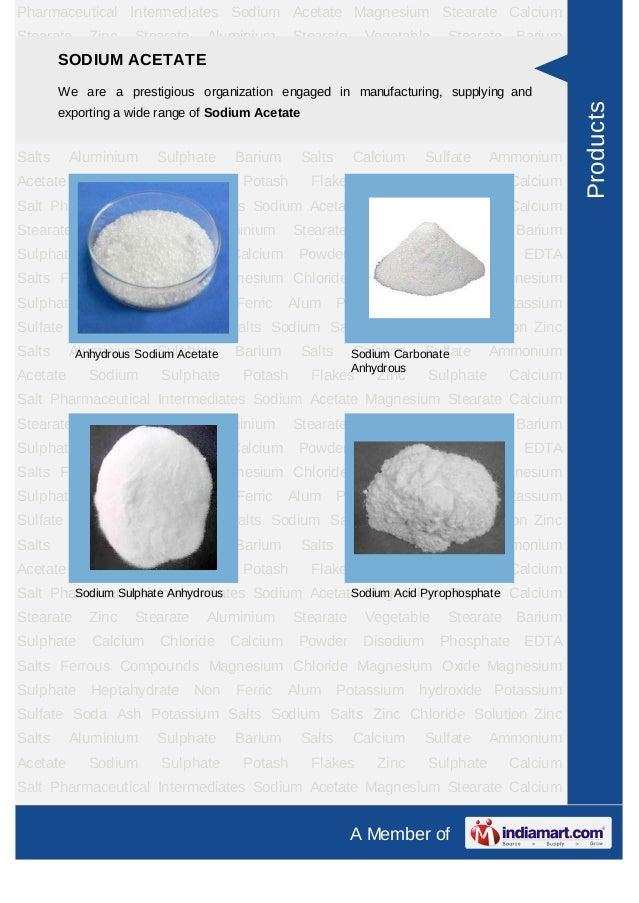Pharmaceutical Intermediates Sodium Acetate Magnesium Stearate CalciumStearate     Zinc   Stearate     Aluminium      Stea...
