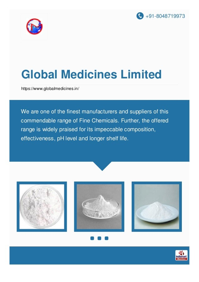 +91-8048719973 Global Medicines Limited https://www.globalmedicines.in/ We are one of the finest manufacturers and supplie...