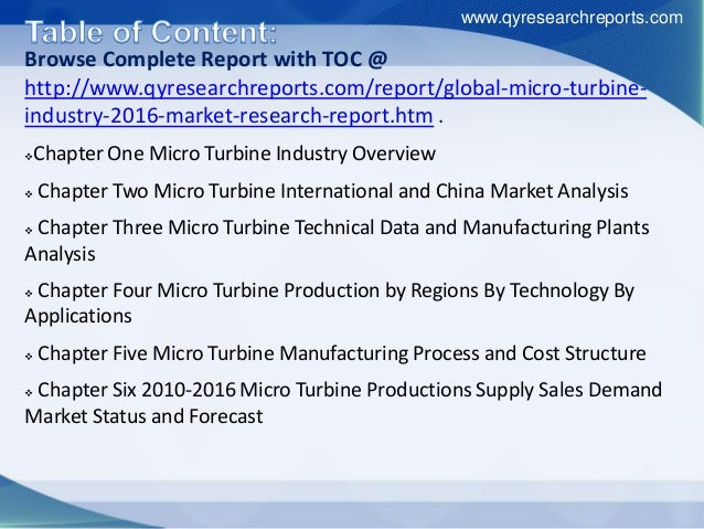 Browse Complete Report with TOC @ http://www.qyresearchreports.com/report/global-micro-turbine- industry-2016-market-resea...