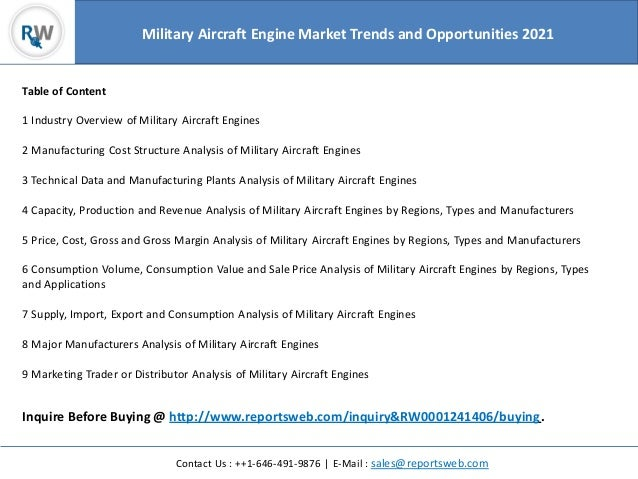 Military Aircraft Engine Market Trends and Opportunities 2021
