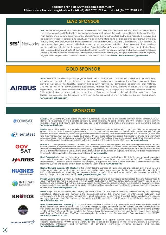 SMi Group's Global MilSatCom 2018 final brochure