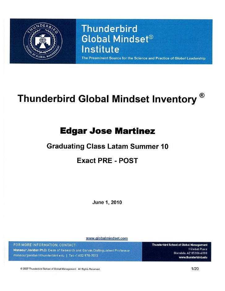 global managers and global mindset business essay Furthermore, understand the business as a whole in a global context the competition and market trends are essential for making well-informed business decisions and to stay ahead of the competitors.