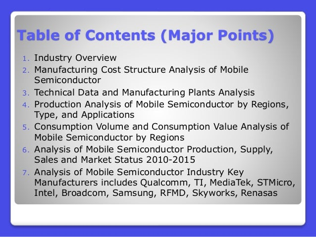 market structure of semiconductor industry Semiconductor industry outlook - september 2016 so semiconductor players with pc market exposure can at best profit from market share gains, byod exposure and increased exposure to the top pc vendors, which are lenovo, hp, dell.