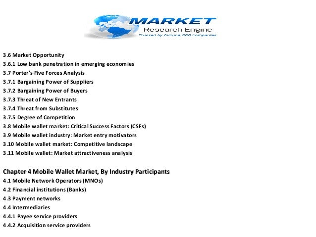 3.6 Market Opportunity 3.6.1 Low bank penetration in emerging economies 3.7 Porter's Five Forces Analysis 3.7.1 Bargaining...