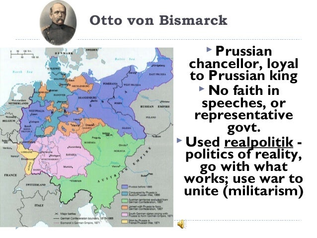 the unification of german confederate states under the policies of otto von bismarck Free essay: the unification of germany in 1871 into a politically and an administratively integrated nation state, is highly regarded as a direct result from otto von bismarck, born april 1st 1815, was a prussian statesman who is known for dominating german and european affairs with his conservative policies beginning.