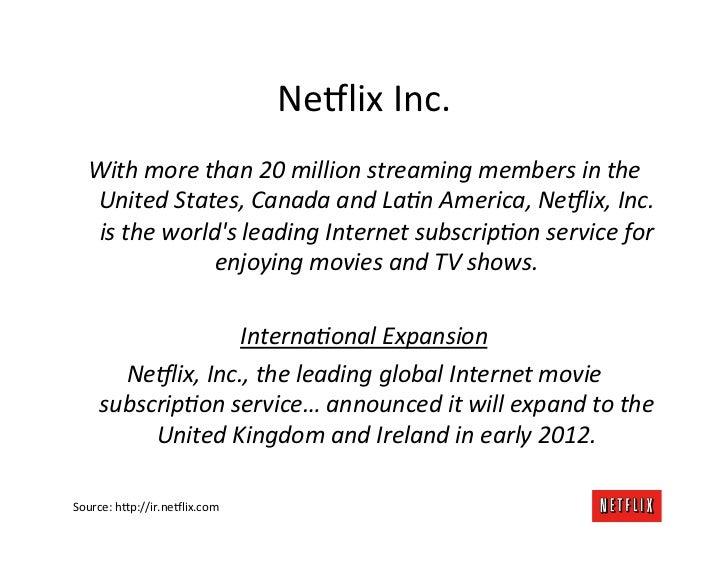Global Netflix Platform Slide 2