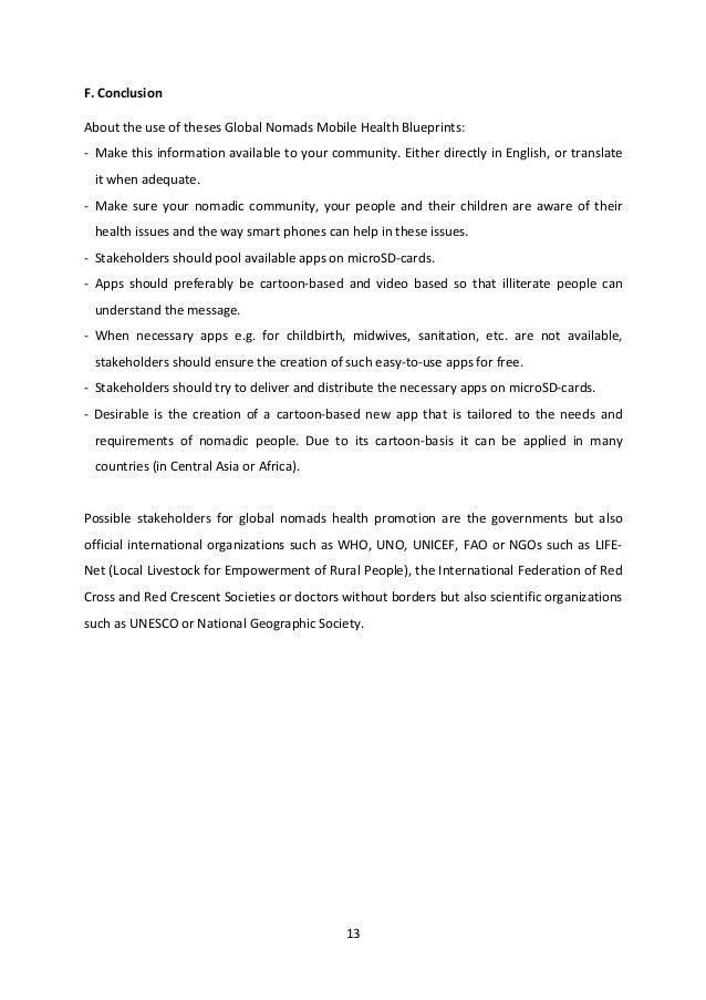 Global Nomads Mobile Health Blueprint Paper