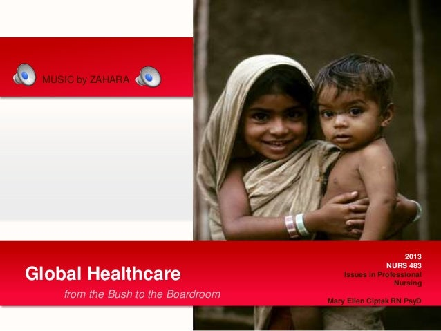 from the Bush to the BoardroomGlobal Healthcare2013NURS 483Issues in ProfessionalNursingMary Ellen Ciptak RN PsyDMUSIC by ...