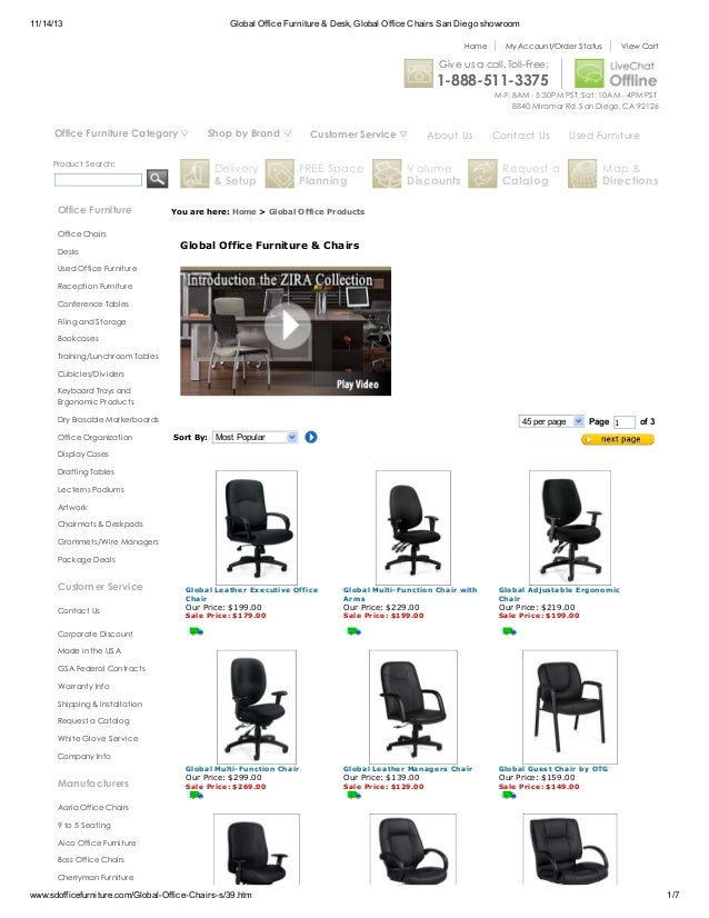 11 14 13 Global Office Furniture Desk Chairs San Diego