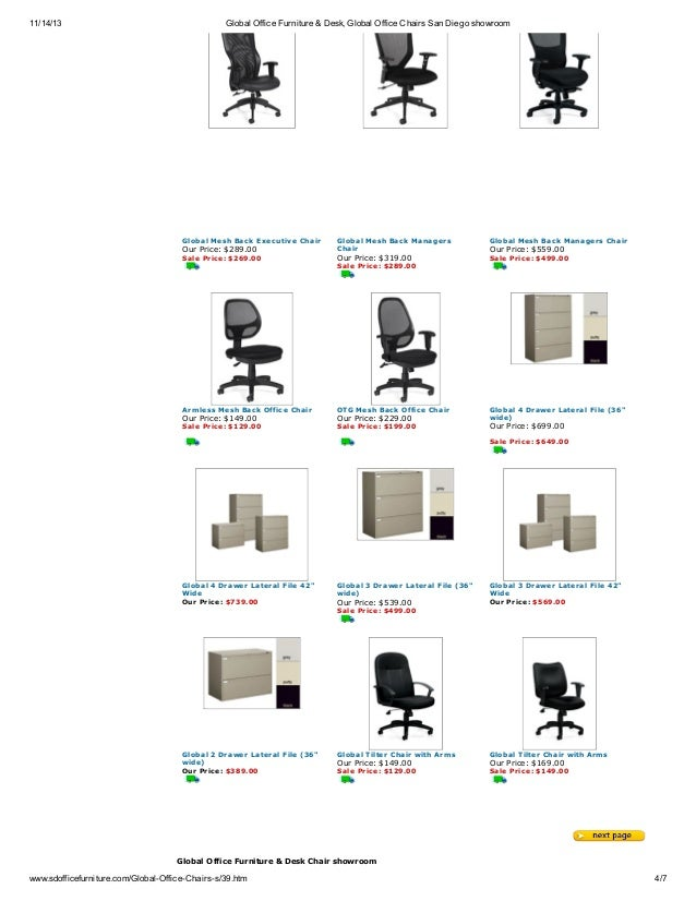 4 11 14 13 Global Office Furniture