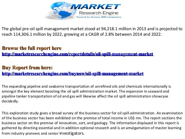 Global Oil Spill Management Industry Market Research Report