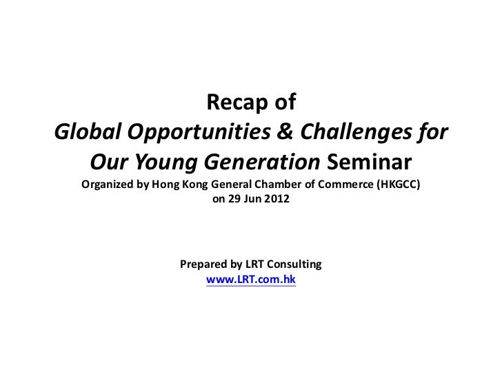 Globalizationopportunities and challenges for chinas younger generation