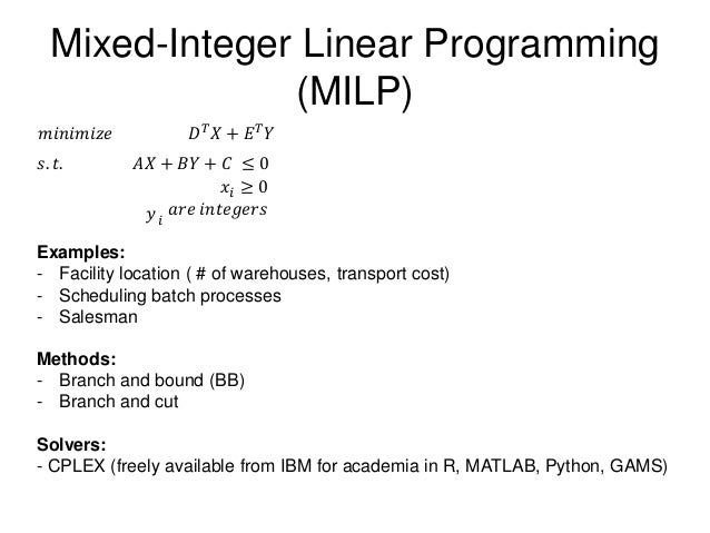 cutting cafeteria costs linear programming 1 linear programming brewer's problem simplex algorithm implementation linear programming references: the allocation of resources by linear programming.