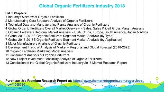 Global Organic Fertilizers Industry Sales, Revenue, Gross