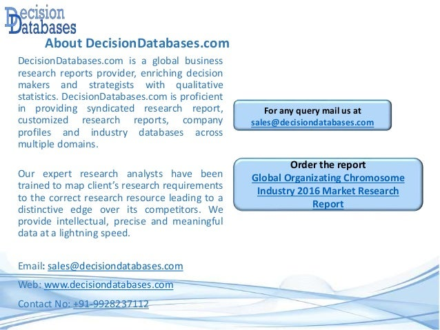 About DecisionDatabases.com DecisionDatabases.com is a global business research reports provider, enriching decision maker...