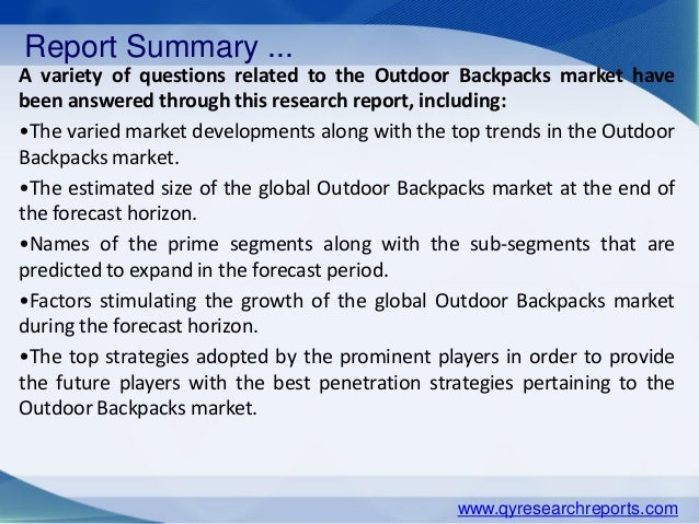 industry analysis on backpacks The wine bags market revenue was xxxx million usd in 2013, grew to xxxx million usd in 2017, and will reach xxxx million usd in 2023, with a cagr of xx% during 2018-2023 based on the wine bags industrial chain, this report mainly elaborate the definition, types, applications and major players.