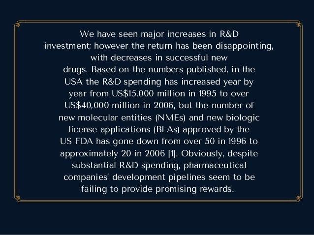 WehaveseenmajorincreasesinR&D investment;howeverthereturnhasbeendisappointing, withdecreasesinsuccessfulne...