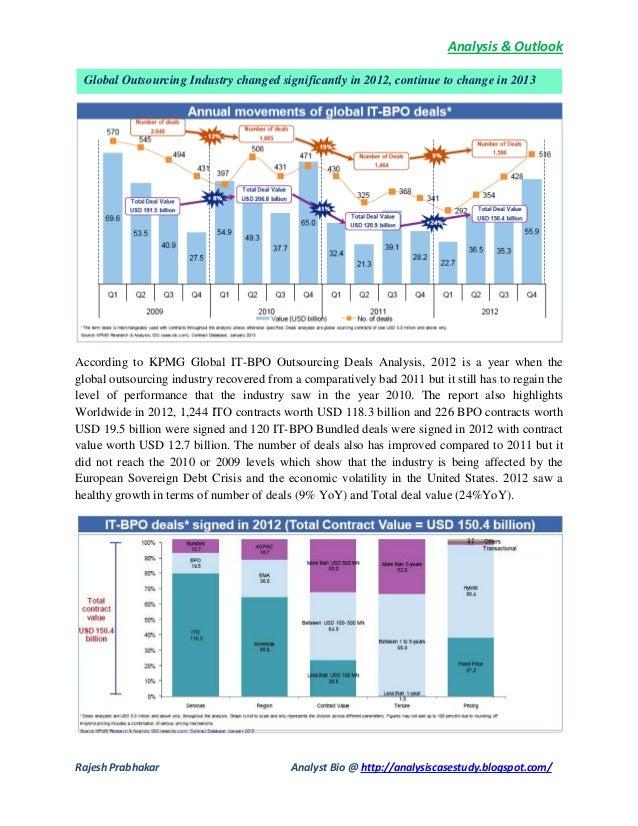 Analysis & OutlookRajesh Prabhakar Analyst Bio @ http://analysiscasestudy.blogspot.com/According to KPMG Global IT-BPO Out...
