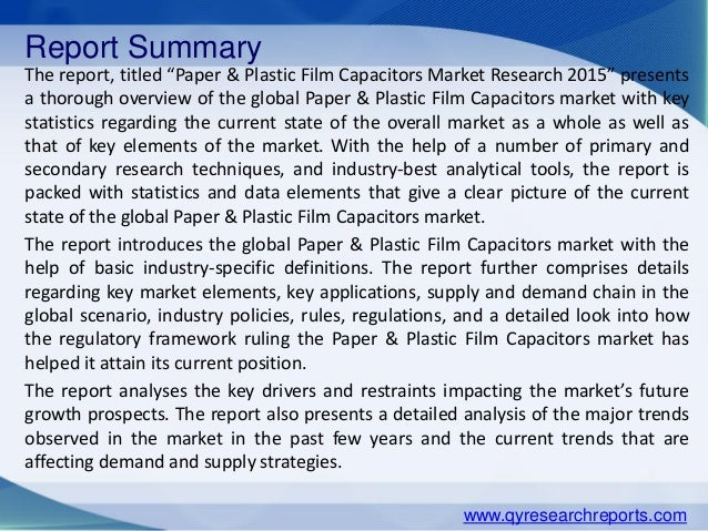 market research paper industry Commercial drone industry market research reports and insights.