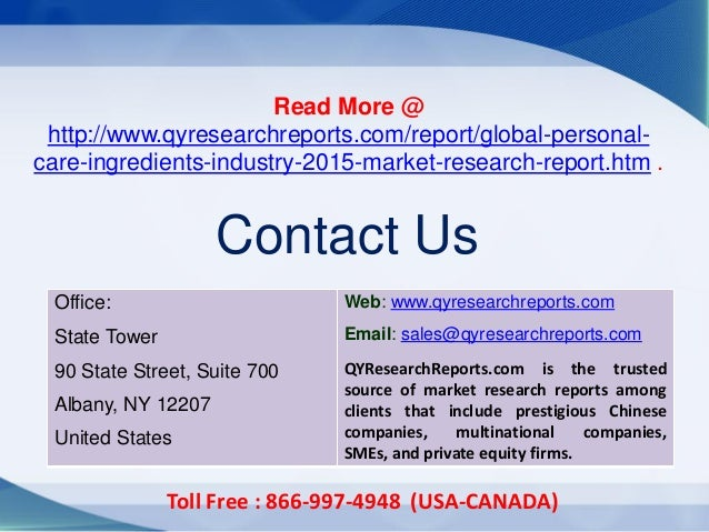 global personal care ingredients market challenges [145 pages report]polymer ingredients in personal care market categorizes the global market by ingredients (surfactants, conditioning polymers) by.
