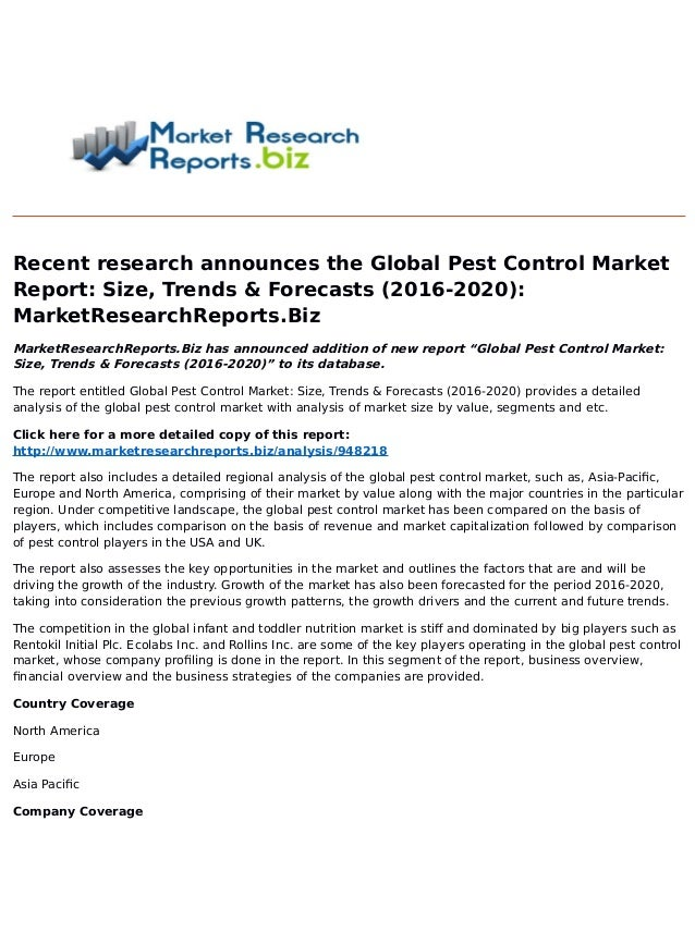 global pest control services market trends